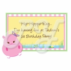 Pink Hippo Personalized party favors