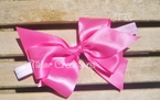 Pink Minnie Mouse 1st Birthday Hair Bow