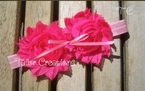 Pink & Peach Shabby Chic flowers Headband