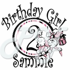 Pink Poodle Personalized Birthday t shirt