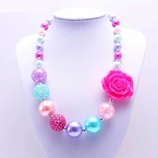 Pink, Purple and Turquoise Bubblegum Chunky Necklace