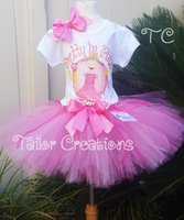 Pinkalicious personalized Birthday tutu set