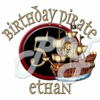 Pirate personalized birthday t shirt