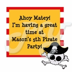 Pirate Personalized Party Favor