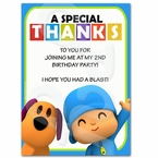 Pocoyo Personalized Thank you Cards