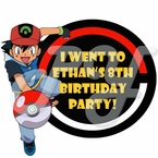 Pokemon Personalized Party Favor