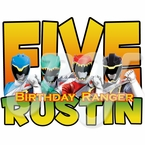 Power Rangers Dino Charge Personalized Birthday t shirt