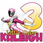 Power Rangers Dino Charge Pink Ranger Personalized Birthday t shirt
