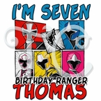Power Rangers Ninja Steel Personalized birthday t shirt
