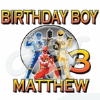 Power Rangers personalized birhtday t shirt