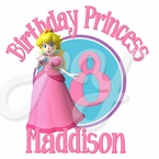 Princess Peach Personalized Birthday t shirt