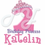 Princess personalized birthday t shirt