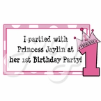 Princess personalized party favor