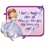 Princess Sofia the First Personalied Party Favor