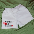 Property of My Valentine Men's Personalized Boxer