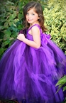 Purple and Plum Flower Tutu Dress