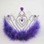Purple Heart Princess Tiara