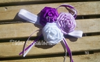 Purple Lavender Love Ribbon Rose Headband
