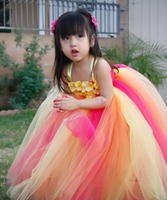 Rainbow Sherbet Hydrangea Pearl Tutu Dress