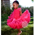 Raspberry - Hot Pink Pettiskirt dress set