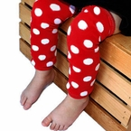 Red and White Polka dot Kids Leg Warmers