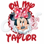 Red Minnie Mouse personalized Birthday t-shirt