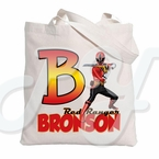 Red Power Ranger Samurai personalized tote bag