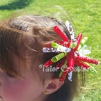 Reindeer Christmas Cheer Korker Headband or Clip