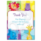 Safari Friends Personalized Thank you Cards