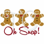 Gingerbread Oh Snap Apron Christmas t shirt