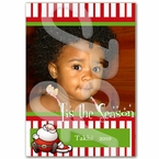 Santa's lil' Helper Photo Holiday Card