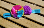 Satin Pinwheel Rainbow Headband