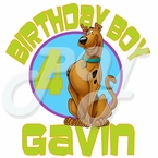 Scooby Doo Personalized Birthday t-shirt