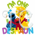 Sesame St personalized Birthday t shirt