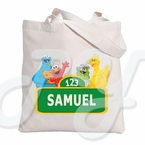 Sesame Street personalized tote bag
