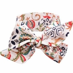 Shabby Pattern Bow Head wrap