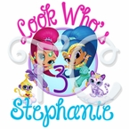 Shimmer and Shine Personalized Birthday t shirt
