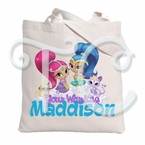 Shimmer and Shine Personalized Canvas Tote Bag