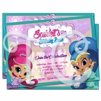 Shimmer and Shine Personalized Invitations