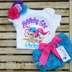 Shimmer and Shine Personalized Petti Lace Set