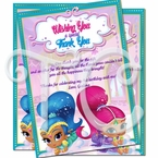 Shimmer and Shine Personalized Thank You Cards