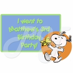 Snoopy Personalized Party Favor