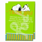 Snoopy Personalized Thank you cards