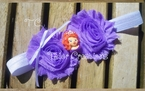 Sofia the First Lavender Shabby Chic flowers Headband