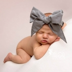 Solid Gray Bow Head wrap