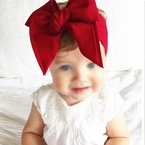 Solid Red Bow Head wrap