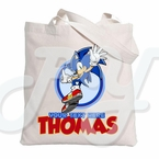 Sonic the Hedgehog Personalized Canvas Tote Bag