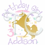 Sparkling Unicorn Personalized birthday t shirt