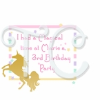 Sparkling Unicorn Personalized Party Favor t shirt