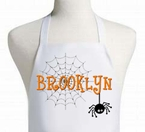 Spider web personalized Halloween apron